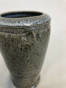 "Unidentified Vintage Studio Art Pottery Vase Signed Stoneware 6"" Tall 3.25"" Across"