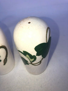 "California Ivy Poppy Trail by Metlox Salt & Pepper Shakers 4.5"" Mid Mod Eames"