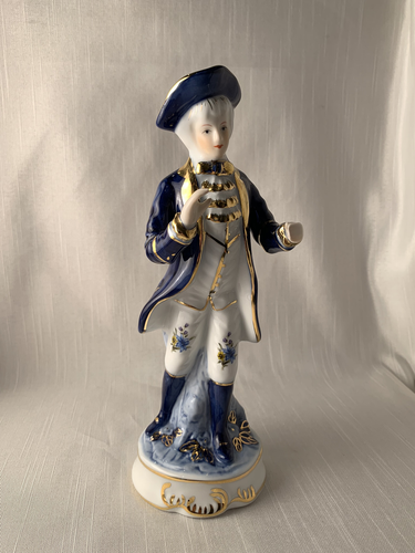 Man in Blue and White - KPM Perfect Gift Kitch Chic Vintage Boho