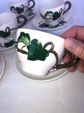 Load image into Gallery viewer, 8 California Ivy Poppy Trail by Metlox Cup And Saucers Mid Mod Eames