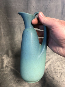 "Van Briggle Colorado Springs Pottery Water Pitcher 9"" Crazing In The Glaze"