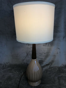 "Vintage 1960s Small Table Or Bedside Lamp Danish Modern Eames Era 25.5"" Tall"