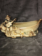 "Load image into Gallery viewer, McCoy Pottery Banana Boat Planter 11.25"" Long Fantastic Patina"