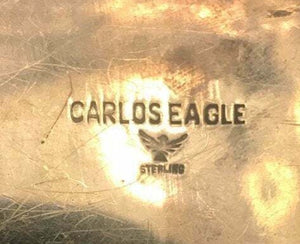 Carlos Eagle Belt Buckle Vintage Native American Jewelry Hand Crafted Rare