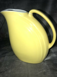 "Vintage Hall Canary Yellow Pitcher in Fantastic Condition 8.5"" Tall Mid Mod Cool"