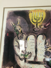 "Load image into Gallery viewer, Mark Chagall Lithograph Plate Signed 75/500 The Tablets Exodus 39"" By 27.5"""