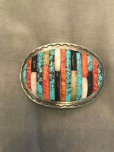 Load image into Gallery viewer, Carlos Eagle Belt Buckle Vintage Native American Jewelry Hand Crafted Rare