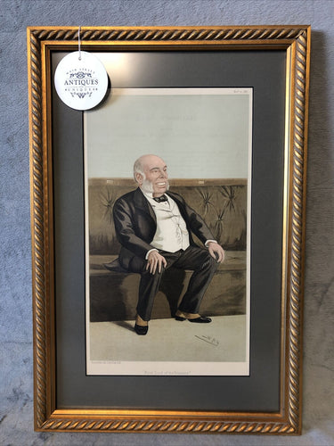 Antique Vanity Fair 1887 Statesmen #533 Framed Lithograph William Henry Smith