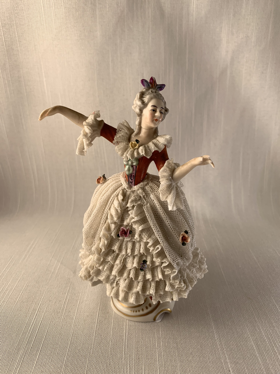 Extremely Rare Victorian Lady Dancing - Erphila - As Is Boho Antique Chic Look
