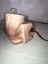 Load image into Gallery viewer, VINTAGE: MID CENTURY 1950's TV LAMP & Planter Pink With White Swan