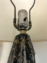 Load image into Gallery viewer, Pair Of Mid Century Danish Modern Atomic Black & Gold Eames Era Table Lamps 29""