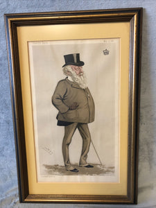 Antique Vanity Fair May 5 1888 Litho Spy Series Statesman Viscount Combermere
