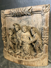 "Load image into Gallery viewer, Vintage Hand Carved Wooden Deep Relief Jesus & 3 Roman Soldiers 19.75"" x 22""x 4"""