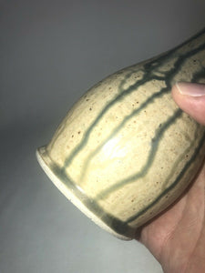 Unidentified Vintage Studio Art Pottery Vase Signed Stoneware 7.5 Tall Nice