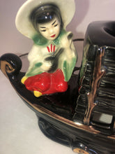 Load image into Gallery viewer, TV Lamp 2 Chinese Children Asian Pagoda Boat Ship Premco Chicago 1954 Eames Era