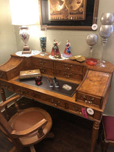 Load image into Gallery viewer, Birdseye Maple Veneer Desk Martinsville Fantastic Condition A Real Stunner
