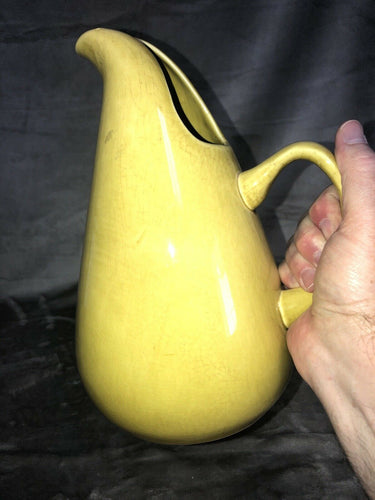1960's RUSSEL WRIGHT STEUBENVILLE LARGE SERVING PITCHER CHARTREUSE MCM USA 10.5""