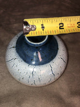 "Load image into Gallery viewer, Studio Art Pottery Bud Vase Signed Inkwell Or Eyeball Shaped ""Neal"" Unique Piece"