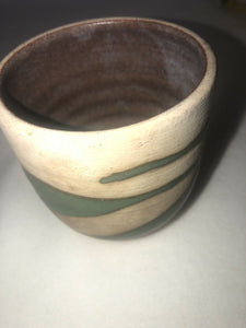 "Unidentified Vintage Studio Art Pottery Vase Signed Stoneware 3.25""Tall 3"" Across"