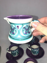 Load image into Gallery viewer, Rare Majolica Schramberg Ger. Violetta Cir 1915 Art Nouveau Mixed Lot 13 Pieces