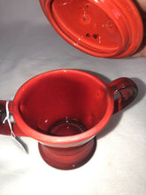 Load image into Gallery viewer, Metlox Poppytrail MCM Mid Century Red Rooster Sugar With Lid & Creamer Eames Era