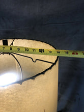 "Load image into Gallery viewer, Vintage 1950s Table Lamp 25.25"" With Shade Blue Labeled Parchment Shade Eames"