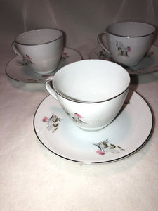 Royal Duchess Fine China Bavaria Germany Mountain Bell 3 Cup & Saucer Sets