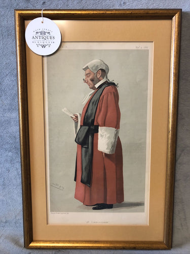 Antique Vanity Fair Nov 3rd 1888 Lithograph Spy Series 3rd Commissioner