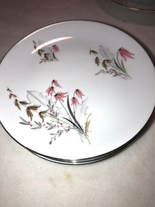 Royal Duchess Fine China Bavaria Germany Mountain Bell 4 Bread Plates 6""