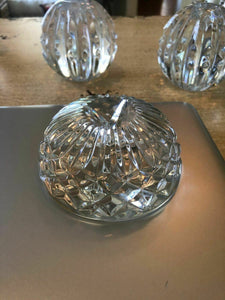 "Waterford Crystal Paper Weight Perfect Gift Christmas ""Finest Quality Crystal"""