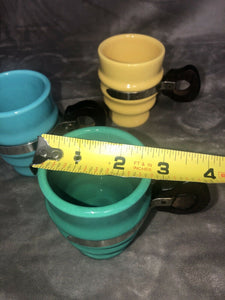 Lot of 3 Vintage Metlox Poppytrail Series 200 Mugs Cups with Wooden Handles