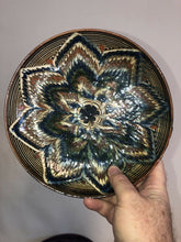 "Load image into Gallery viewer, Vintage Hand Painted Mexican Terra-cotta Decorative Plate 8.75"" Great Design"