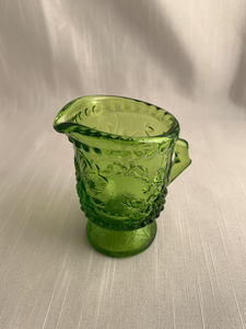 Vintage Emerald Green Depression Glass Creamer Cristmas Gift Boho Kitch Retro