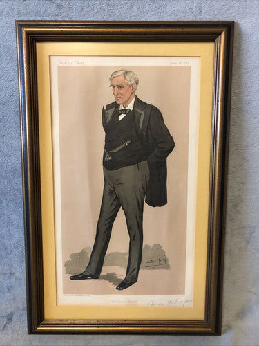 "Antique Vanity Fair June 28 1894 Litho Spy Series ""The United States"""
