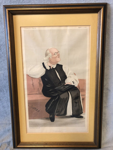 Antique Vanity Fair Mar 17 1888 Litho Spy Series Man Of Day Rev Harvey Goodwin