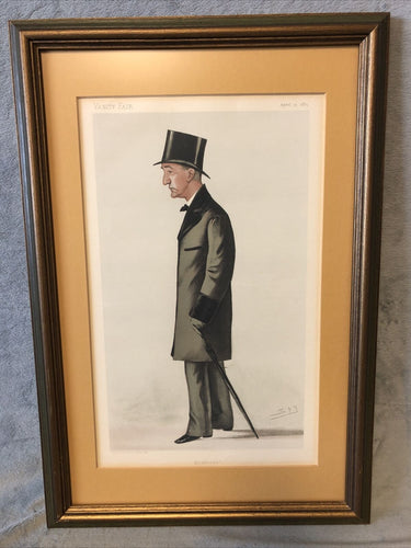 Antique Vanity Fair Apr 25th 1885 Lithograph Spy Series Statesmen #462 Baxter