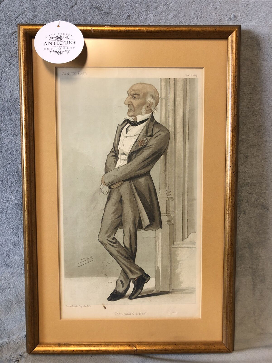 Antique Vanity Fair Nov 5th 1887 The Grand Old Man Lithograph Spy Series