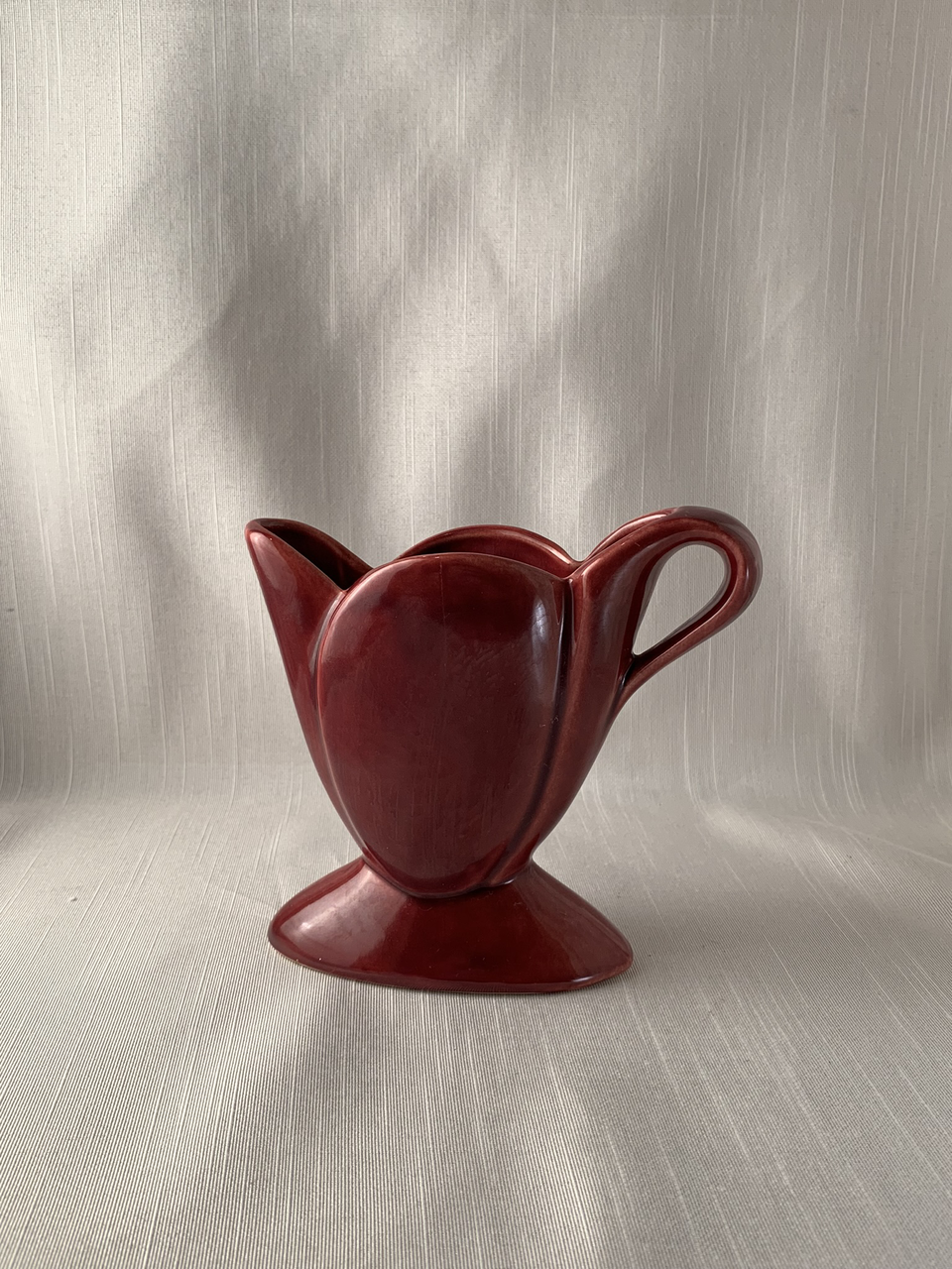 Cantinaware Pitcher Vintage Retro Ox Blood Perfect Mid Mod Eames Era Gift Boho