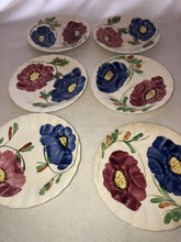 Load image into Gallery viewer, Blue Ridge Southern Potteries Becky Hand Painted Set Of 6 Saucers 5.75""