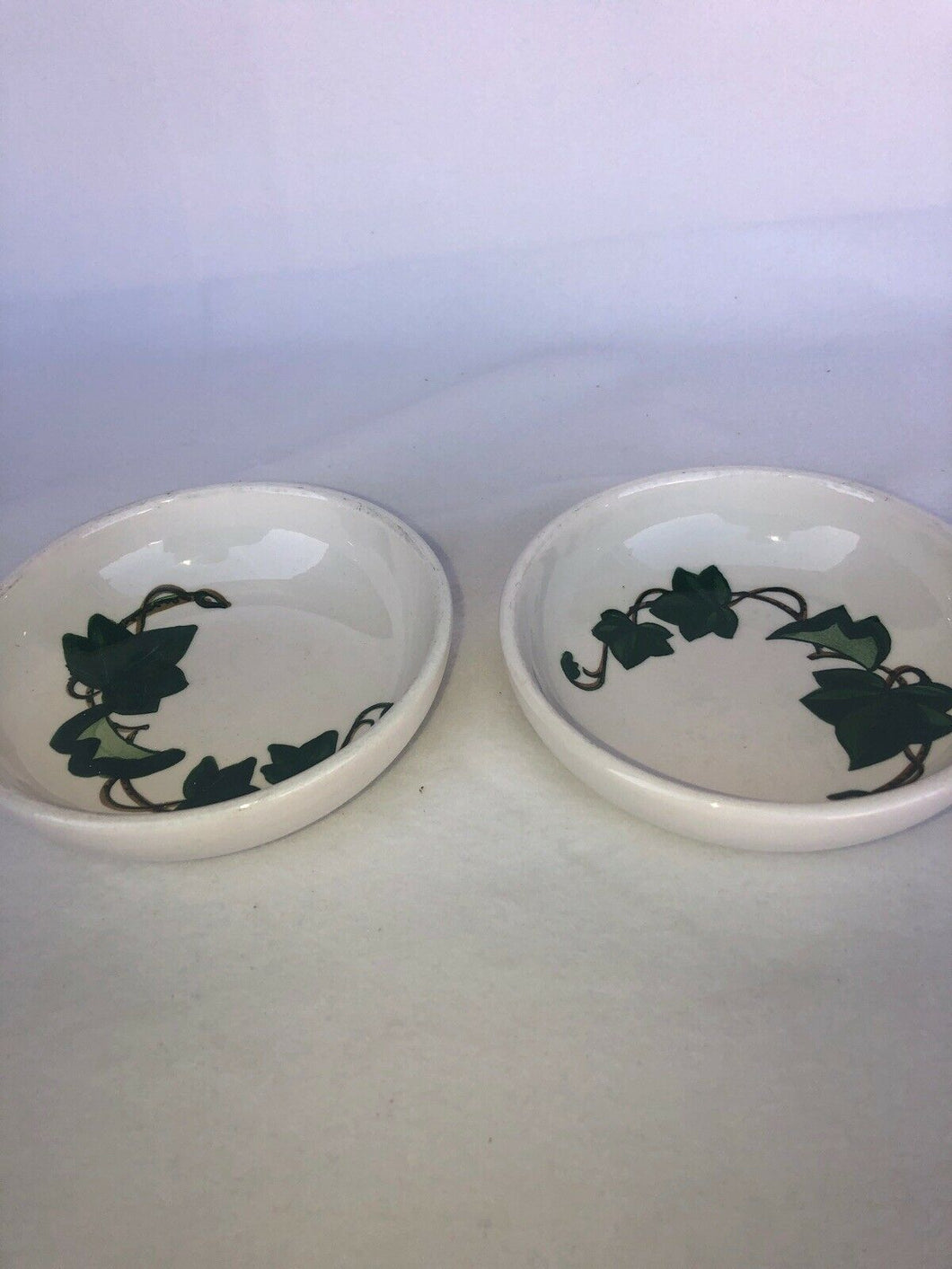 "2 California Ivy Poppy Trail by Metlox Small Bowles 5.75"" Each Mid Mod Eames Era"