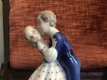 "Load image into Gallery viewer, Bing And Grondahl ""First Kiss"" #2162 Made in Denmark COPENHAGEN PORCELAIN 1940s"