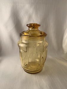 Amber LE Smith Depression Glass Apothecary Storage Hipster Hippie Kitch Mid Mod