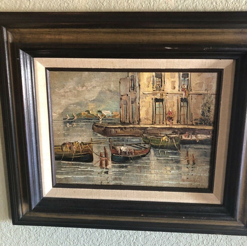 Art Gino Giordano (born 1924) Oil Panting On Canvas Origanal Frame Fantastic
