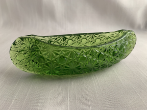 Green Depression Glass Canoe Kitch Boho Hipster Hippie Christmas Gift Perfect