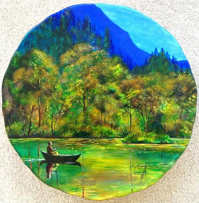 How to Paint a Landscape Platter in 13 Steps