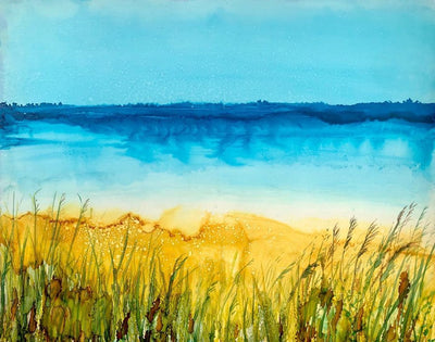 Behind the Dunes, Original Painting: Ebay Auction 100% of sales goes to Charity: Water