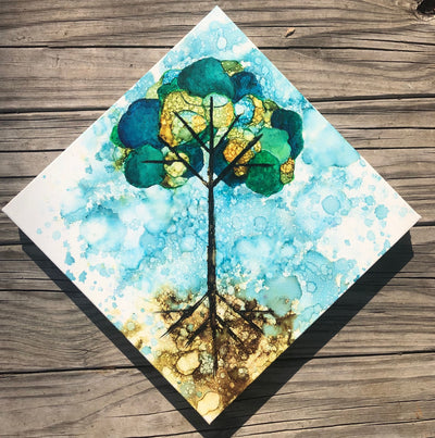 Tree of Life Original Painting: Ebay Auction 100% of sales goes to Charity: Water