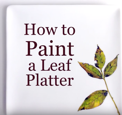 How To Paint Leaves On A Platter (Video Tutorial 1 of 3)
