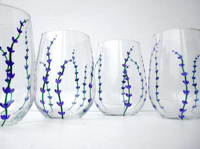 Video Tutorial on Painting Lavender Buds on Glassware