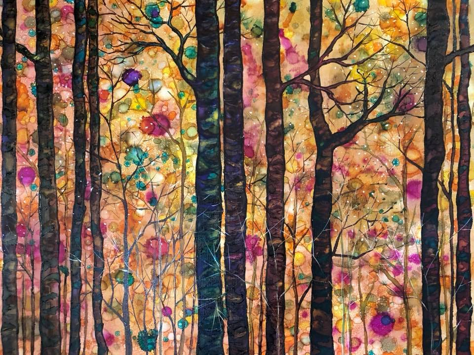 Dream Forest: mixed media painting, prints and cards